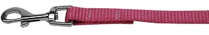 Plain Nylon Pet Leash 1in by 6ft Rose